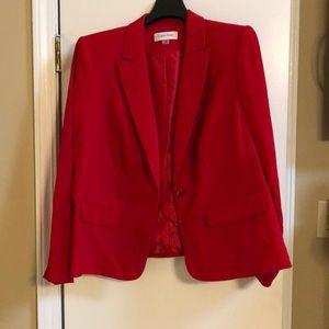 Red Calvin Klein suit jacket / blazer